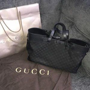 Gucci classic GG tote w/ long strap